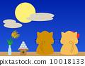 望月 矢量 小貓 10018133