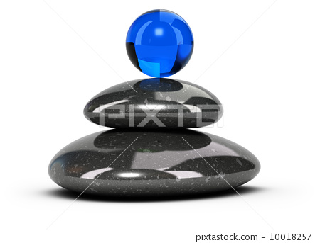 Relaxation Concept - Pebbles Stack 10018257