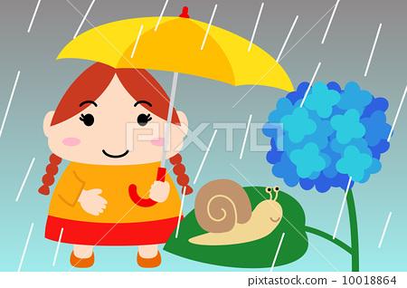 Illustration material for the calendar June Junior child oblong 10018864