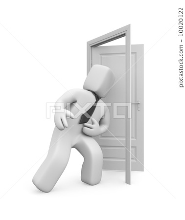 Kicking down shoulder of the door. Overcoming barriers. Image contain clipping path 10020122