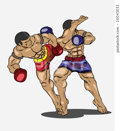 Muay thai. Martial art 10045031