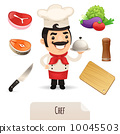 Male Chef Icons Set 10045503