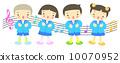 chorus, vector, vectors 10070952