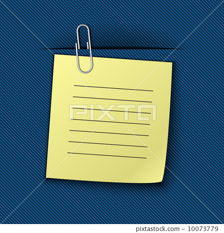 Vector illustration of the note clipped to the blue drapery 10073779