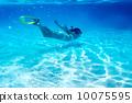snorkeling, sea, ocean 10075595