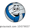 Cartoon volleyball ball 10079837
