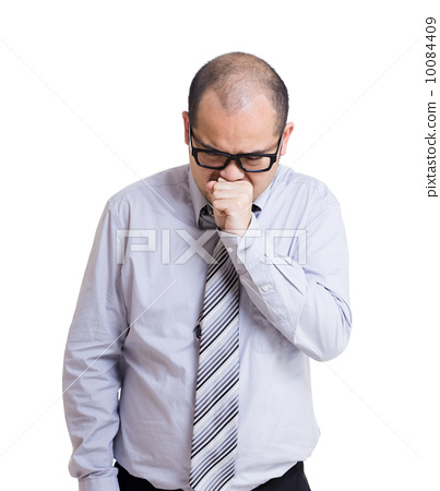 Businessman with cough 10084409