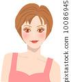 短髮 女性 女 10086945