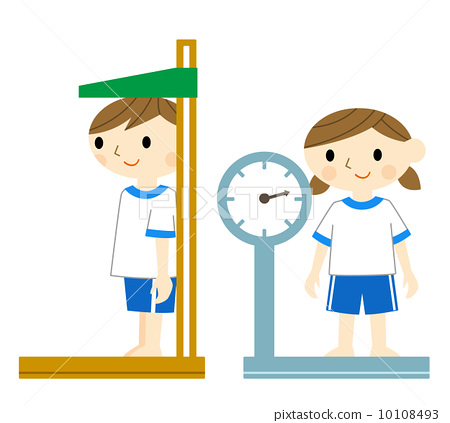 Measuring Weight Cartoon anthropometry, younger...