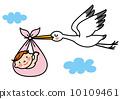 Stork baby illustration 10109461
