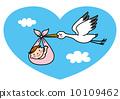 Stork baby illustration 10109462