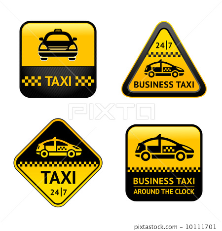 Taxi cab set labels 10111701