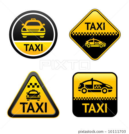 Taxi cab set buttons 10111703