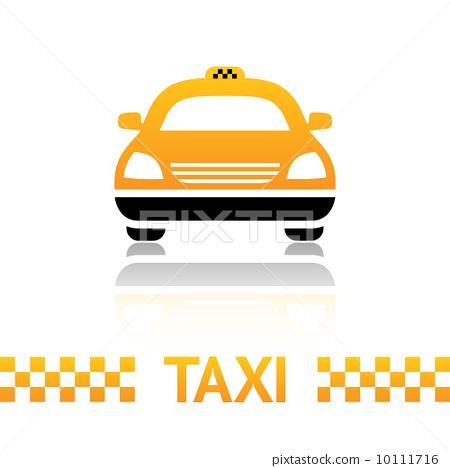 Taxi cab symbol on white background 10111716