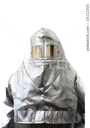 Stock Photo: old safety clothes (fireman, x-raym, etc )