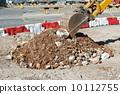 Caterpillar digging at a construction site 10112755