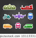Set of stickers, transport color signs 10113331