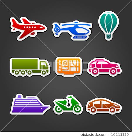 Set stickers color transport 10113339