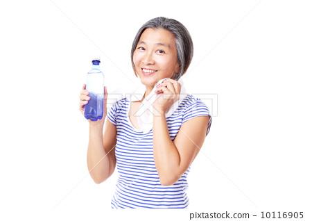 페트병, 아줌마, 물 10116905
