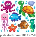 Various marine animals set 1 10119258