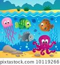Underwater ocean fauna theme 1 10119266