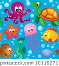 Seamless background sea theme 2 10119271