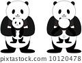 熊貓 擁抱 父母和小孩 10120478
