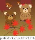 달력 용 일러스트 소재 11 월 곰 광장 10121816