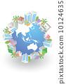 地球儀 矢量 城市風光 10124635