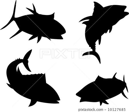 Yellow Fin Tuna Fish Silhouette 10127685