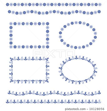 装饰边框,装饰框架,锚舵 10128056