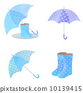 雨具 藍色 傘 10139415
