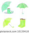 雨具 長筒靴 淡黃綠色 10139418