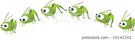 Funny Grasshopper Jumping 10142202
