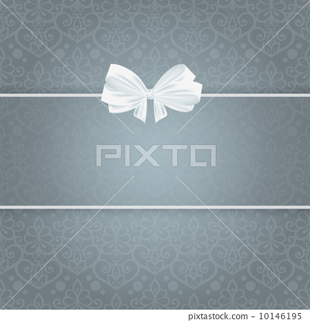 Wedding card for invitation with bow and panel for text. 10146195