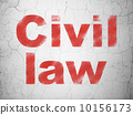 Law concept: Civil Law on wall background 10156173