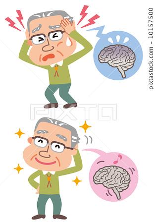 腦疾病病癒合老人例證 10157500