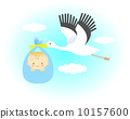 Stork and baby 10157600