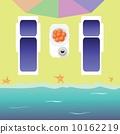 傘 日光浴 海灘 10162219