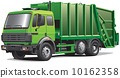 green garbage truck 10162358
