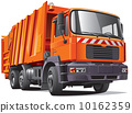 orange garbage truck 10162359