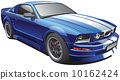 blue muscle car 10162424