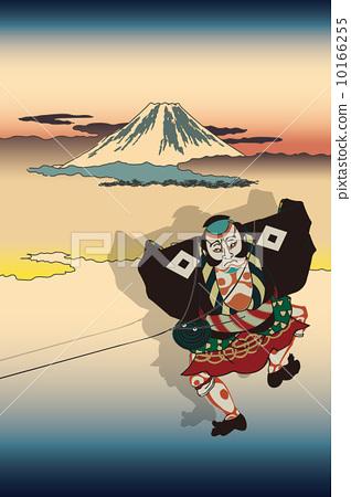 Utagawa Kunisaku kite and Utagawa Hiroshige image of Gagafu 10166255