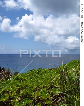 Blue sea, sky 10172761