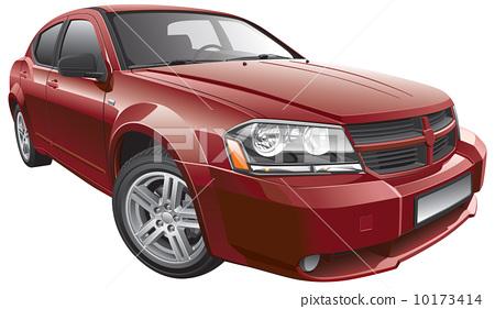 American mid-size car 10173414