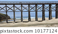 Historic railroad wooden trestle bridge California Panorama 10177124