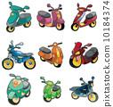 发动机 卡通 自行车 10184374