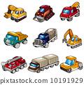 cartoon color truck 10191929