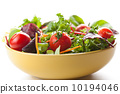 Bowl of fresh green salad with tomatoes 10194046
