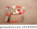 Paper applique Valentine greeting card 10194069